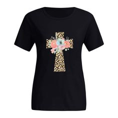 KANGMOON 2020 Women Cute Elephant Printing Sunflower Tops Short Sleeves Round Neck Loose T-Shirt Blouse