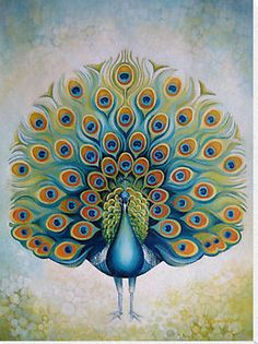 Peacock Canvas Print by Elena Oleniuc. All canvas prints are professionally printed, assembled, and shipped within 3 - 4 business days and delivered ready-to-hang on your wall. Choose from multiple print sizes, border colors, and canvas materials. Peacock Decor, Peacock Design, Peacock Bedroom, Peacock Theme, Peacock Painting, Fabric Painting, Peacock Drawing, Peacock Artwork, Peacock Canvas