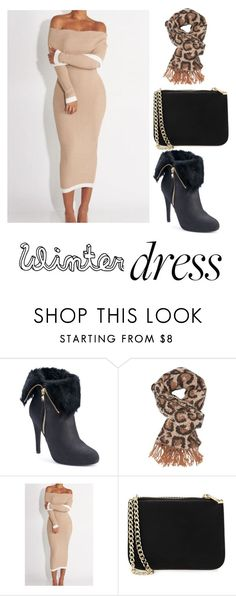 """""""Winter Dress under $100"""" by killerkween19 ❤ liked on Polyvore featuring Jennifer Lopez, Charlotte Russe and Forever 21"""