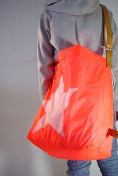 Neon Shopper // Neon bag by elkedag via DaWanda.com