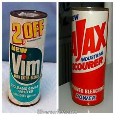 Vim and Ajax. The days before Mr Muscle. I loved the smell of Vim. 1970s Childhood, My Childhood Memories, Those Were The Days, The Good Old Days, Vintage Laundry, Kiwiana, Do You Remember, My Memory, Woodstock