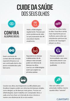 33 melhores imagens de Saúde dos Olhos   Health infographics, Health ... 51ca1f1ea7
