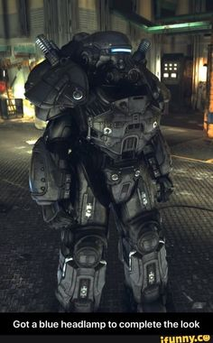 Got a blue headlamp to complete the look - Got a blue headlamp to complete the look - iFunny :) T 60 Power Armor, Fallout Power Armor, Post Apocalyptic Series, Fallout Fan Art, Character Art, Character Design, Rainbow Six Siege Memes, Future Soldier, Fallout New Vegas