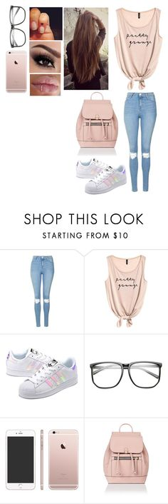 """""""Sin título #391"""" by burusa2 ❤ liked on Polyvore featuring Topshop, adidas Originals and Accessorize"""