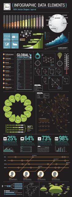Infographic Data Elements, chart, graph