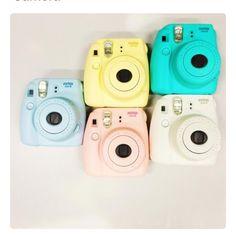 Fujifilm Instax Mini 8 Instant Camera - Urban Outfitters (think Polaroid! Polaroid Instax Mini, Poloroid Camera, Polaroid Foto, Fujifilm Instax Mini 8, Instax Camera, Polaroid Camera Colors, Things To Buy, Girly Things, Photo Kawaii