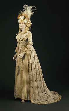 Dress ca. 1790 via The Los Angeles County Museum of Art