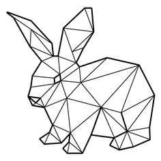 Discover recipes, home ideas, style inspiration and other ideas to try. Geometric Drawing, Geometric Shapes, Geometric Animal, Art Drawings Sketches, Animal Drawings, Lapin Art, Polygon Art, 3d Pen, Ideias Diy