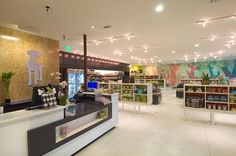 Healthy Spot, featuring specialty dog products, brings a fresh, new front to Santa Monica's famous Wilshire Blvd. The glass-paneled facade reveals the store's open and inviting layout, its playful wall murals adding a lively ambiance that invite owner and…