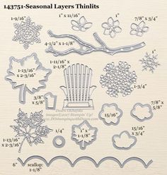 Stampin' Up! Seasonal Layer Thinlit Dies sizes shared by Dawn Olchefske #dostamping