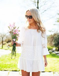 Asos White Lace Petite Summer Dress