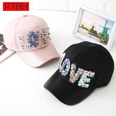 8efe5cc192f Fashion Summer Snapback Fitted Adjustable Dome Hip Hop Baseball Caps Love  Letter For Women Luxury Brand