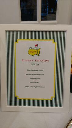 Master's Golf Theme 1st Birthday Party at Sugar Creek Country Club. #Masters #Golf #BirthdayParty