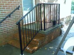 Handrail rail with wall mounted rail