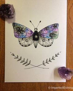 Butterfly with Laurel ✨ #original #watercolor for sale, $20 at:  https://www.etsy.com/listing/275904256/butterfly-with-laurel?ref=shop_home_listings  #painting #drawing #art #pen #ink #mystical #occult #quartz #crystal #moon #imperfectetchings #etsy #nature #illustration #artistsoninstagram #etsyshop #artwork #butterfly #space #stars #galaxy #cosmos #laurel