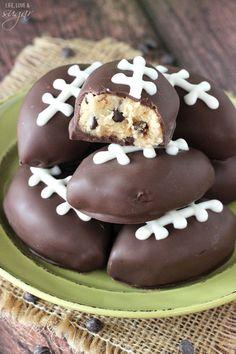Chocolate Chip Cookie Dough Footballs - CountryLiving.com