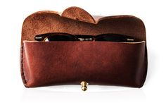 Mahogany Leather Glasses Case by Kaufmann Mercantile
