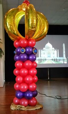Party People Event Decorating Company: Harrison School of the Arts, Morocco Prom 2015 - Pin Decor Arabian Party, Arabian Nights Party, Prom Balloons, Birthday Balloons, Ballon Decorations, Ramadan Decorations, Kids Birthday Themes, Birthday Party Decorations, Party Themes