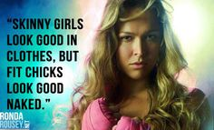 Inspiration for aspiring fit chicks everywhere. #armbarnation Visit RondaRousey.net