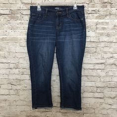 OLD NAVY Cropped Jeans Size 4 Blue Diva Denim Roll Cuff Mojave Women's  | eBay