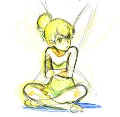 Pouting--exactly what Tinker Bell does best.