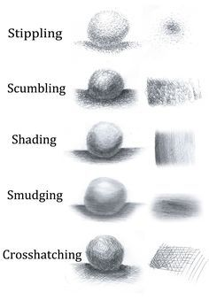 Ways to create value..Example of Crosshatching                                                                                                                                                     More
