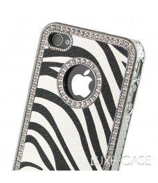 Exploring the Savanna White Zebra Rhinestone iPhone 4 Case