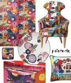 soren chair in painter's palette. Love the colourful chair. Found on designsponge.com.