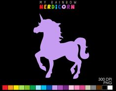 Unicorn clipart, Fantasy Clipart, Commercial Use, Mythological Creature, Rainbow Unicorn stencil, birthday invitation, party