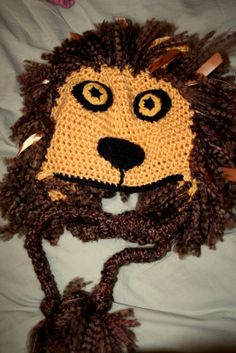 Luna Lovegood inspired Lion Head Hat, Crochet Adult size. $54.00, via Etsy.