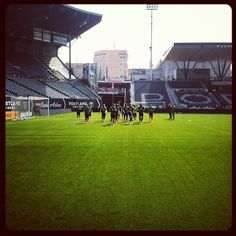 Portland Timbers getting ready for #LAaway game. #RCTID
