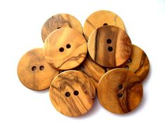 Wood buttons made of OLIVE TREE in Bethlehem, Holy Land