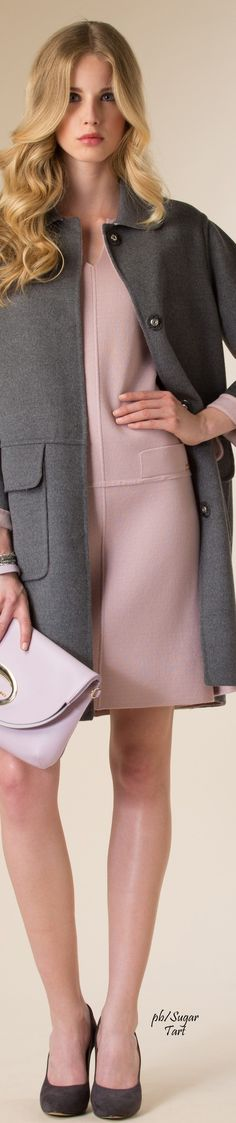 Luisa Spagnoli FW 15-16 women fashion outfit clothing stylish apparel @roressclothes closet ideas