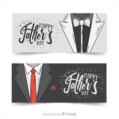 Hand drawn father's day banners | Free Vector #Freepik #freevector #banner #card #love #hand