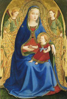 Virgen de la granada (Fra Angelico) - Arte mariano - Wikipedia, la enciclopedia libre