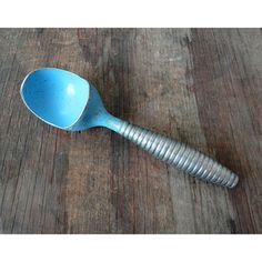 1950s Blue Metal Ice Cream Scoop made in by JustSmashingDarling