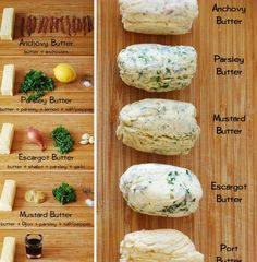 Recipe: Compound Butters - Anchovy, Parsley, Mustard, Escargot, Port, Red Wine, and Tarragon - Whisk Blog