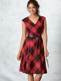 NATALIE PLAID DRESS