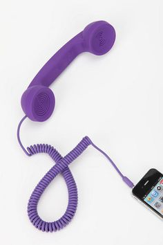Urban Outfitters has the coolest things! Old School Phone, Urban Outfitters, Iphone Phone, Ipod, Phone Cases, Purple Love, Purple Rain, Best Phone, Room Accessories