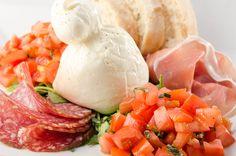 Fresh Burrata, Prosciutto, salami Milano, tomatoes, basil & a hot Ciabatta from the oven @ Funky Lounge
