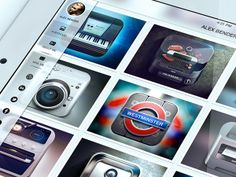 iPad Mobile Portfolio iOS 7 Style by Alex Bender, via Behance