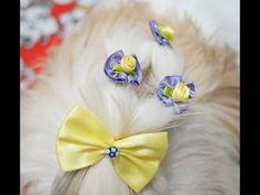 Penteado de festa para sua cadelinha: Coroa de Laços. - YouTube