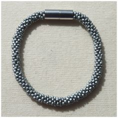Silver Bead crochet rope bracelet via CherryLime Accessories. Click on the image to see more!
