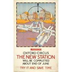 Oxford Circus - The New Station - Charles W Baker (1925)