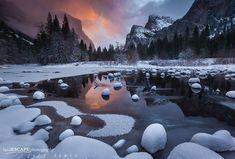 wintertime in yosemite