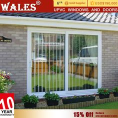 Cheap upvc automatic glass door polycarbonate warehouse sliding door