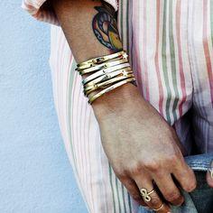 Scosha - Brass Smooth Cuff, $150.00 (http://shop.scosha.com/brass-smooth-cuff/)