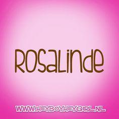 Rosalinde  (Voor meer inspiratie, en unieke geboortekaartjes kijk op www.heyboyheygirl.nl)