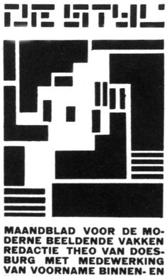 sitidleordont:    De Stijl publication, 1923    Black & White Illustration | 1451