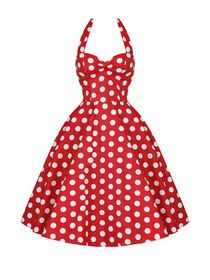 Halterneck Backless Polka Dots Mini Dress img